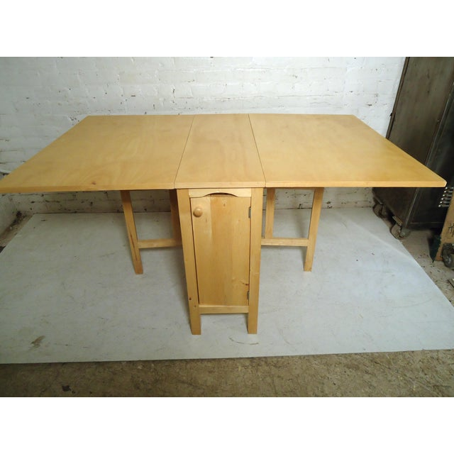 Mid-Century Modern Drop Leaf Table For Sale In New York - Image 6 of 9