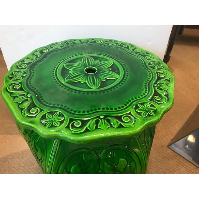 Late 19th Century 19th Century Edwardian Minton Majolica Garden Seat For Sale - Image 5 of 8