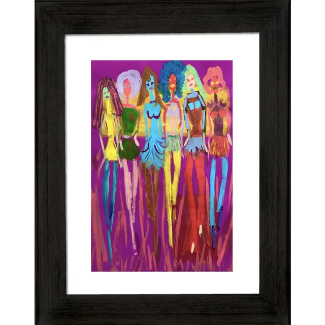 This color fashion inspired painting is on gallery paper. Fun and colorful part of my pop art collection influenced by...