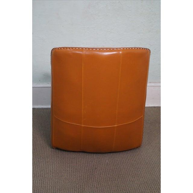 Unusual Italian Leather Rocking Lounge Chair - Image 4 of 10