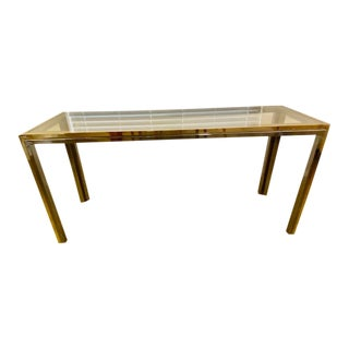 Mid Century Console Table by Romeo Rega for Design Institute of America For Sale