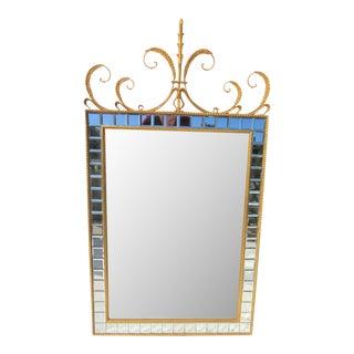 Italian Gold Gilt Beveled Mirror For Sale