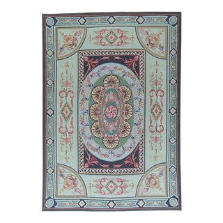 """Pasargad Aubusson Hand Woven Wool Rug - 9'11"""" X 14' 2"""""""