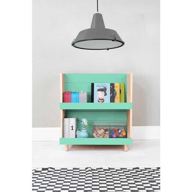 Minimo Modern Kids Maple Wood Bookcase. Living room, playroom or bedroom. Our Minimo kids bookcase shelf unit will feel...