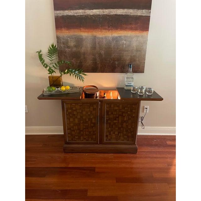 Vintage Brutalist Dry Bar Cabinet For Sale - Image 4 of 12