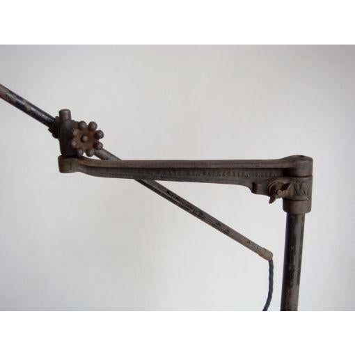 Iron O.C. White Industrial Task Lamp For Sale - Image 7 of 7