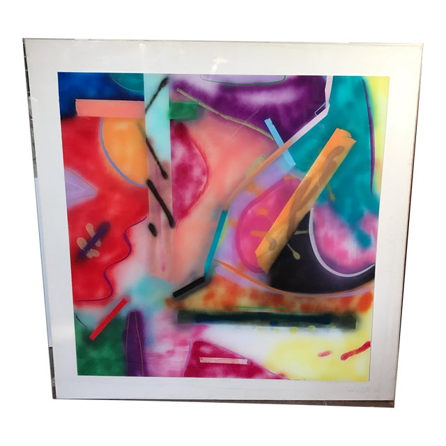 Jack Schulz Abstract Reverse Painting on Acrylic - Image 1 of 10