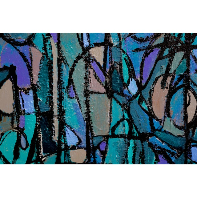 """""""Sea Moons"""" Acrylic on Canvas by Artist Kenneth Joaquin For Sale In Palm Springs - Image 6 of 13"""