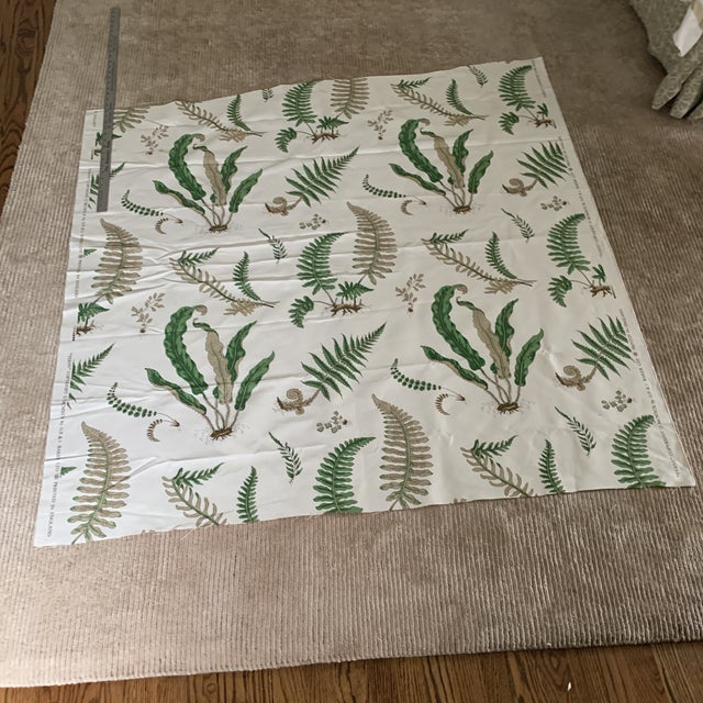 "G. P. & J. Baker ""Ferns"" Fabric- 1 1/4 Yards For Sale - Image 4 of 8"