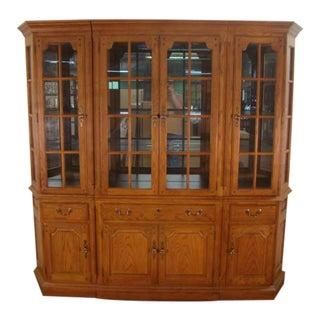 Thomasville Oak Bookcase Unit For Sale