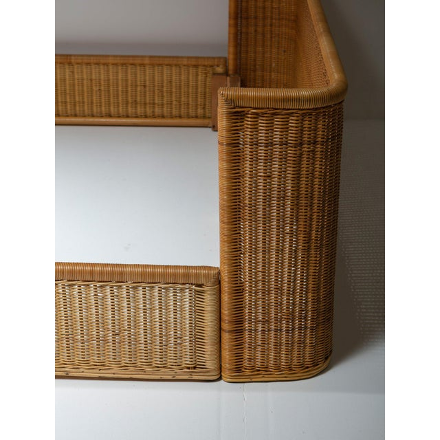 Adalberto Dal Lago Double Bed Wicker Frame by Adalberto Dal Lago for Germa For Sale - Image 4 of 7
