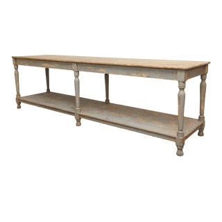 Massive French Drapers Table For Sale