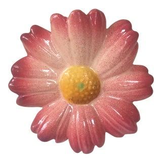 1900s Majolica Pink Daisy Wall Pocket Jerome Massier Fils For Sale
