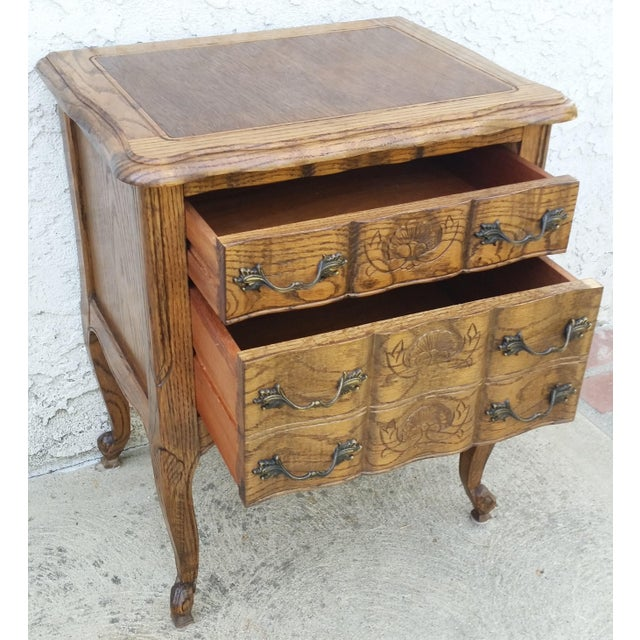 Mid 20th Century 20th Century French Provincial Oak Nightstand For Sale - Image 5 of 11
