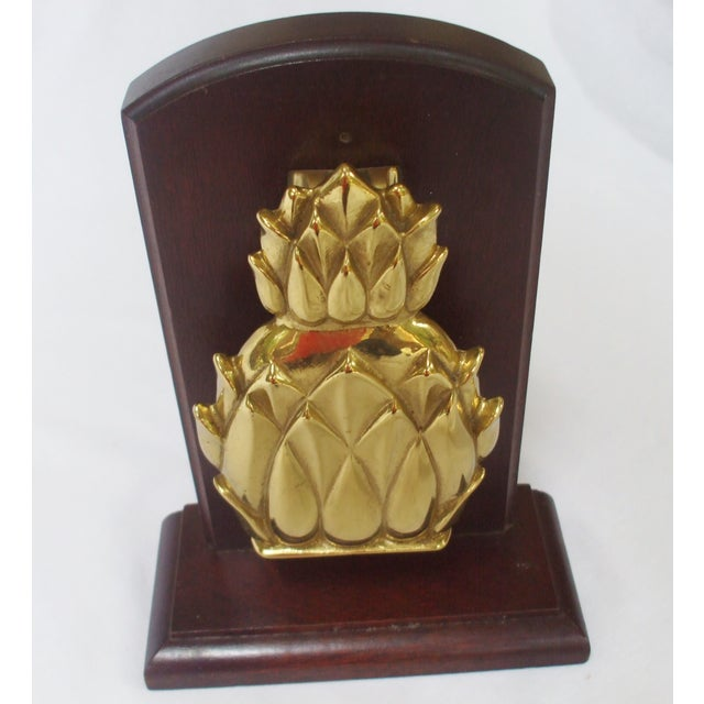 Brass Pineapple Door Knocker or Bookend For Sale - Image 5 of 5