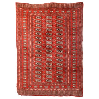 """1940s Vintage Wool Bokhara Rug-4'2'x5'9"""" For Sale"""