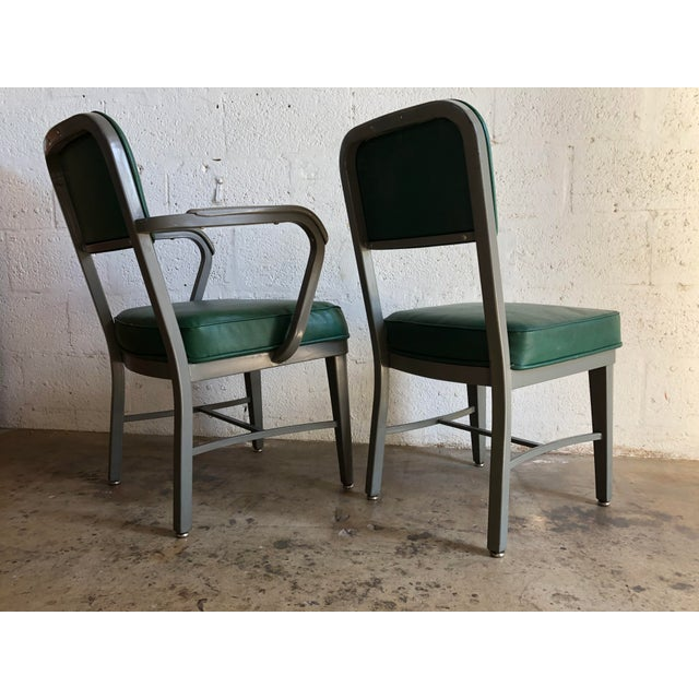 Industrial Vintage Office Industrial Chairs by Techfab Furniture Missouri (A Pair) For Sale - Image 3 of 13