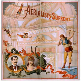 Aerialists Supreme Advertisement Print, 1800's For Sale