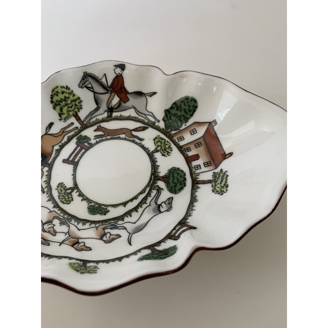 Mid 20th Century Staffordshire Hunting Scene Bowl For Sale - Image 5 of 11