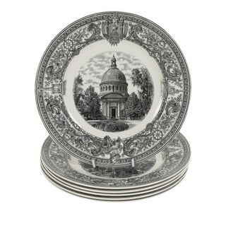Six Copeland Spode Plates of the u.s. Naval Academy For Sale