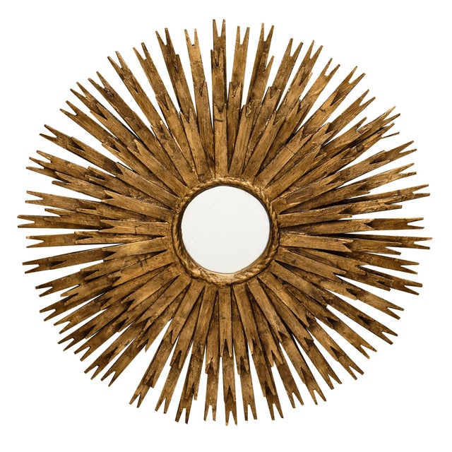Vintage Spanish Sunburst Mirror For Sale - Image 10 of 10