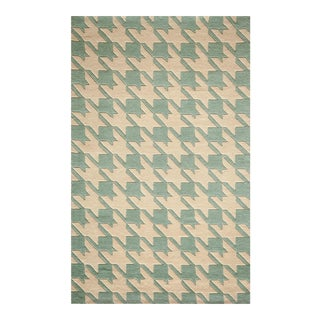"""Contemporary Momeni Delhi Hand Tufted Light Blue Wool Area Rug - 3'6"""" X 5'6"""" For Sale"""