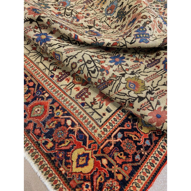 "Classic Antique Persian Sarouk Rug, 4'4"" X 6'5"" For Sale - Image 9 of 11"