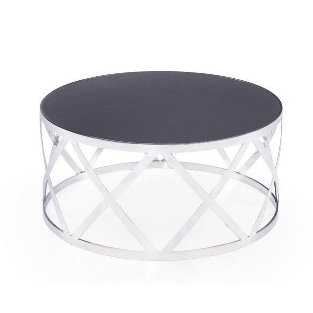 Modern Blink Home Black Cocktail Table For Sale - Image 3 of 5