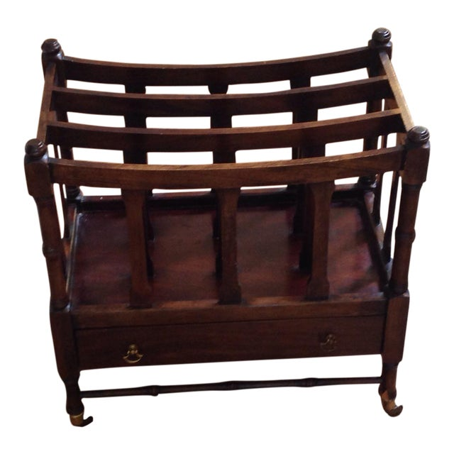 Canterbury Mahogany Magazine Rack - Image 1 of 6