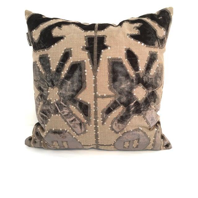 Adam and Viktoria Swedish Natural Linen Tischa Pillow For Sale - Image 10 of 10