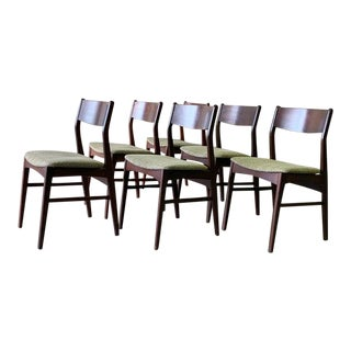 Mid Century Modern Rosewood Dining Chairs, Set/6 For Sale