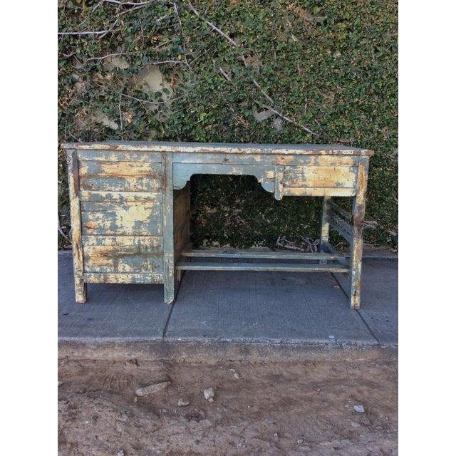Vintage Shabby Chic Desk For Sale - Image 5 of 10