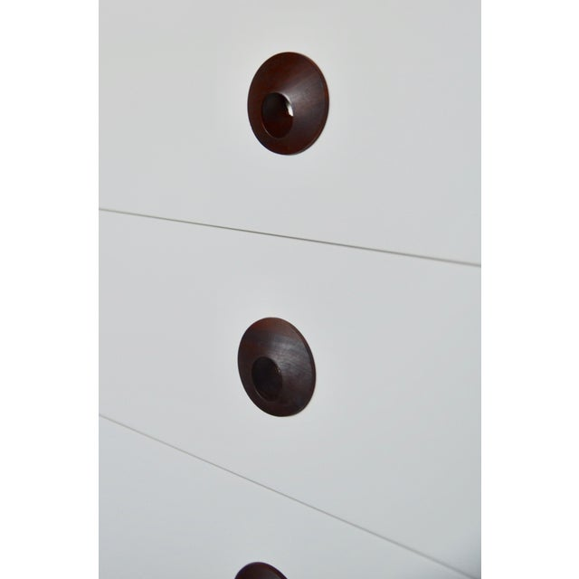 Mid Century Modern Brown Saltman Chest of Drawers Set For Sale - Image 9 of 11