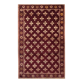 """Antique Indian Agra Rug 4'0"""" X 6'6"""" For Sale"""