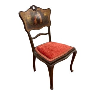 Chair - 1910s Vintage Hand-Painted Side Chair For Sale