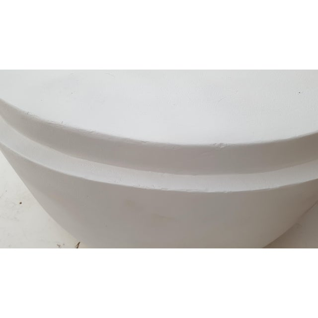 Sculptural Plaster Round Coffee Table For Sale - Image 9 of 11