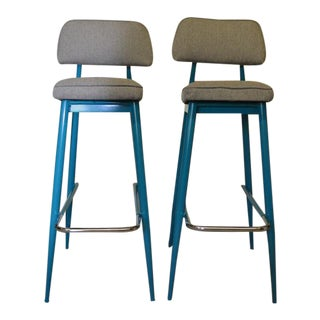 Cal Arts Mid-Century Modern Bar Stools- A Pair For Sale