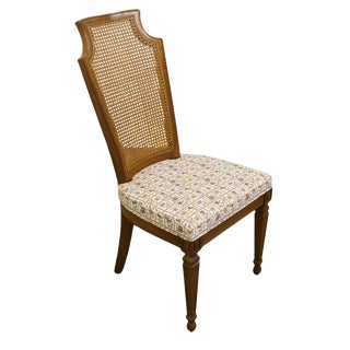 Drexel Furniture Italian Neoclassical Cane Back Dining Side Chair For Sale