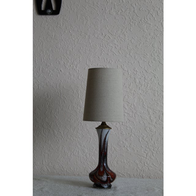 Art Glass Mid Century Modern Petite Murano Table Lamp For Sale - Image 7 of 9