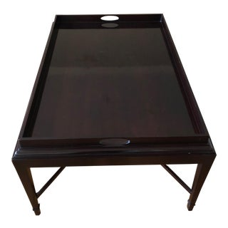 Transitional Barbara Barry Baker Tray Coffee Table For Sale