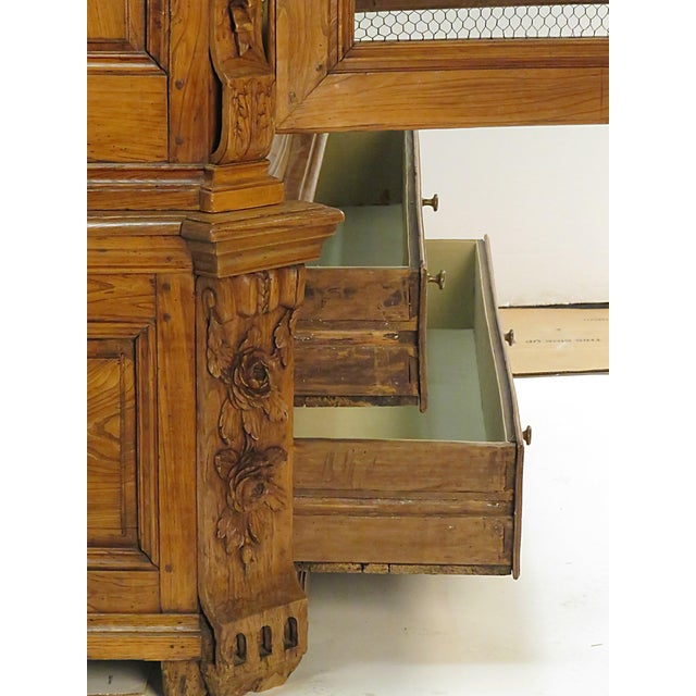 Baroque Early 19th Century Elm Richly Carved Baltic Cabinet For Sale - Image 3 of 8