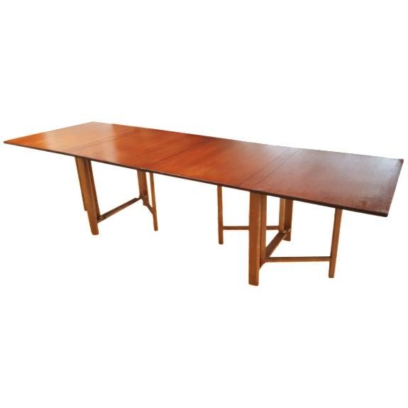 "Bruno Mathsson Gate-Leg ""Maria"" Table - Image 1 of 7"