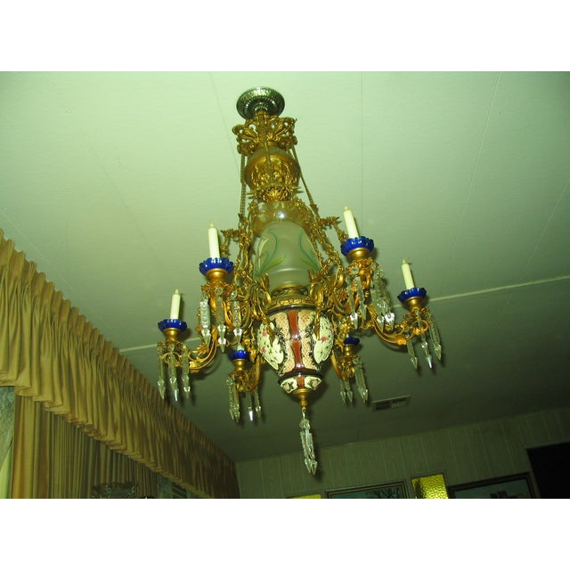 French Traditional Victorian Hall Chandelier 19th Century - Image 2 of 8