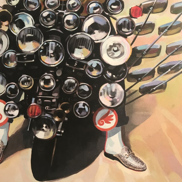 2010s Framed Gucci Abstract Motorcycle Shoes & Rockstar Guitar Fashion Self Portrait Art - a Pair For Sale - Image 5 of 11
