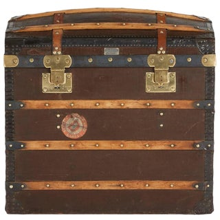 1920s French Moynat Steamer Trunk, Restored For Sale