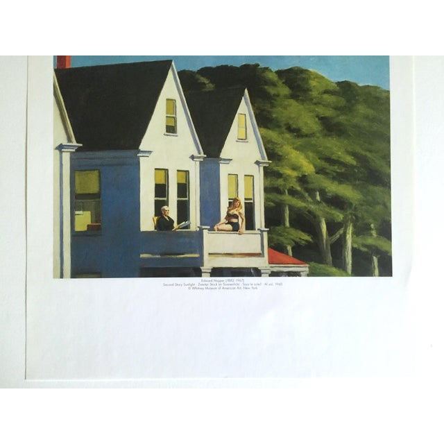 "Mid-Century Modern Edward Hopper Vintage 1999 Lithograph Calendar Print "" Second Story Sunlight "" 1960 For Sale - Image 3 of 9"