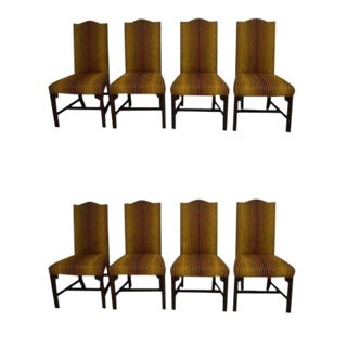 Henkel Harris Solid Mahogany Dining Chairs - Set of 8 For Sale