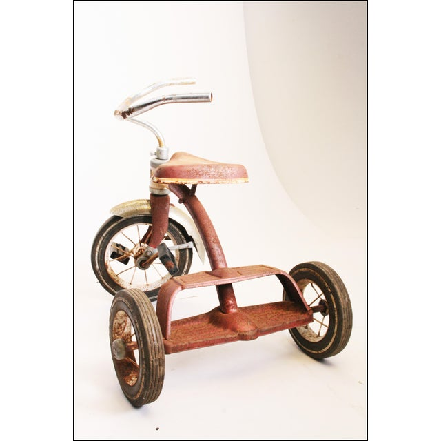 Vintage Rustic Metal Child's Tricycle - Image 8 of 11
