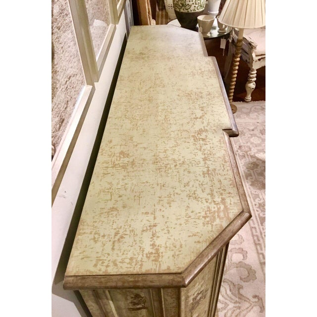 Drexel Heritage Chinoiserie Sage Flanders Console Table/Sideboard For Sale In Atlanta - Image 6 of 8