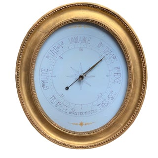 Antique French Giltwood Barometer For Sale